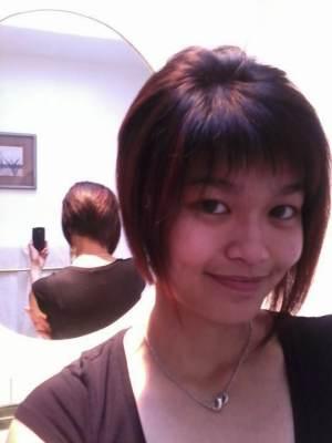 dark brown hair with blue highlights. dark brown hair top red