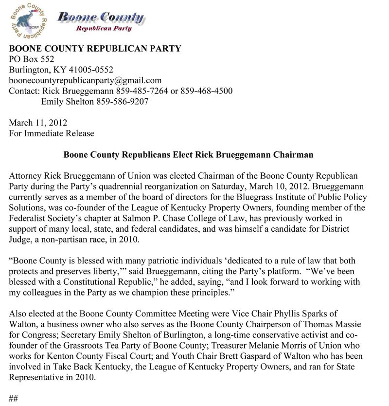 BOONE COUNTY REPUBLICAN PARTY Press release-RB rev