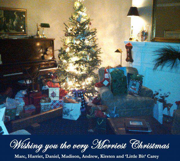 Christmas card tree names copy