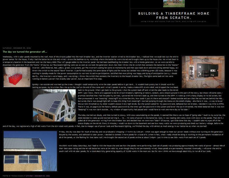 Massie solar house