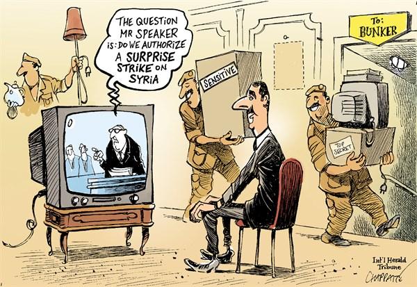 Surprise strike on syria