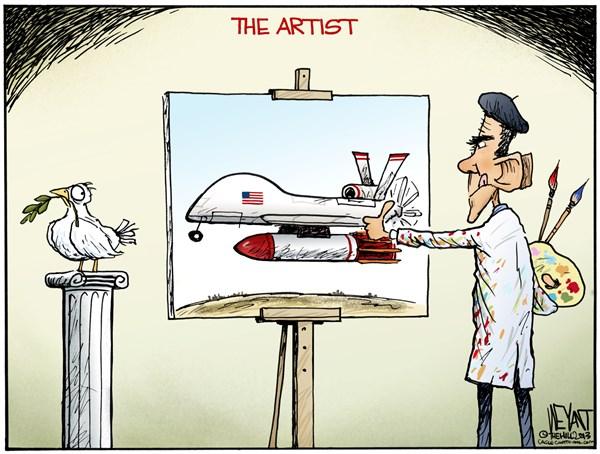 Obama paints peace