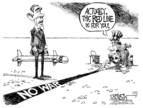 Red line for obama