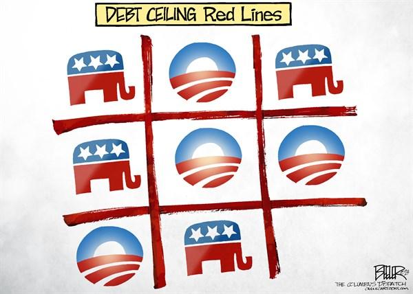 Debt ceiling tick tack toe