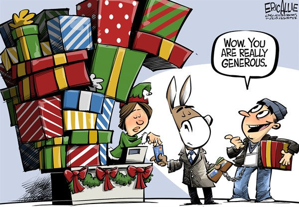 Generous democrat Christmas