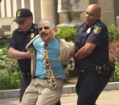 Eric holder in handcuffs copy